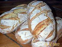 Bake a real sour dough                bread without yeast