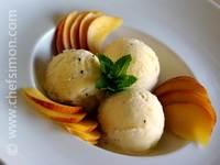 Glace à l'italienne aux fruits exotiques