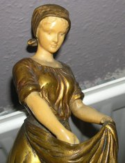 RARE ART NOUVEAU IVORY AND BRO