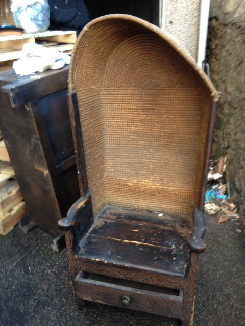 - Aberdeen Antiques Centre - 18 Century Orkney Chair Dated 1782