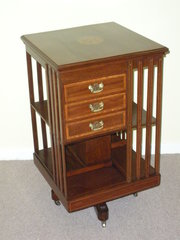 Edwardian Mahogany Revolving B