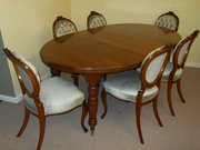 Late Victorian Solid Walnut Ov
