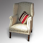 A Georgian Revival wing chair