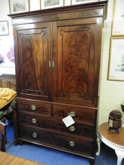 19th c mahogany converted press cupboard