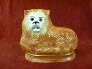 19th c staffordshire recumbent lion