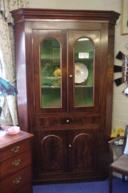 19th century corner cupboard