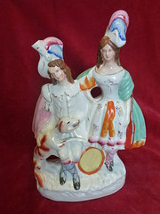 19th century staffordshire figure group