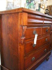 19th century walnut chest of draws