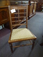 antique oak childs chair