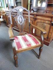 antique oak gentlemans chair