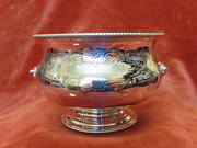 antique silver engraved bowl. c1887