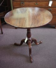antique tilt top mahogany tripod table