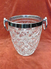 art deco crystal champagne bottle holder