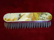 silver enamelled brush
