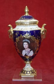 coalport prototype vase and cover