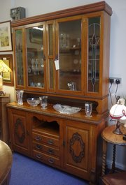 edwardian dresser with glazed doors