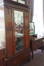 edwardian mahogany two piece bedroom suite.