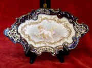 french champleve - enamelled and porcelain