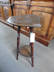 heart shaped two tiered occasional table
