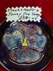 moorcroft pansy pin tray