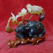 quality chinese jade carving of an ox