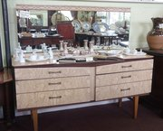 retro arfomosia mirror back dressing table