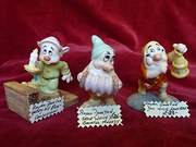 royal doulton - 3 snow white dwarfs