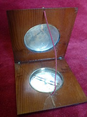 silver mounted compass
