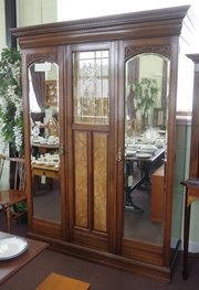 victoria c1880 triple door wardrobe