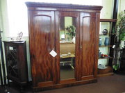 victorian c1880 triple door wardrobe
