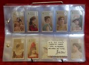 w.d.  h.o. wills cigarette cards c1898 actresses