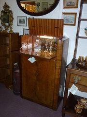 c1950 60 walnut cocktail cabinet