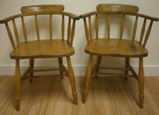 Pair of 1900s beach country ch