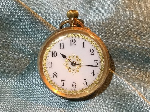 14ct gold Chivre Ladies Pocket Watch
