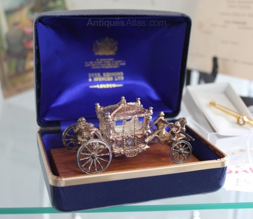 1977 Silver Jubilee Boxed Silver Royal Carriage