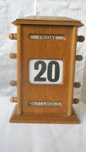 Perpetual Calendar Desk : Antiques atlas th century perpetual wooden desk calendar