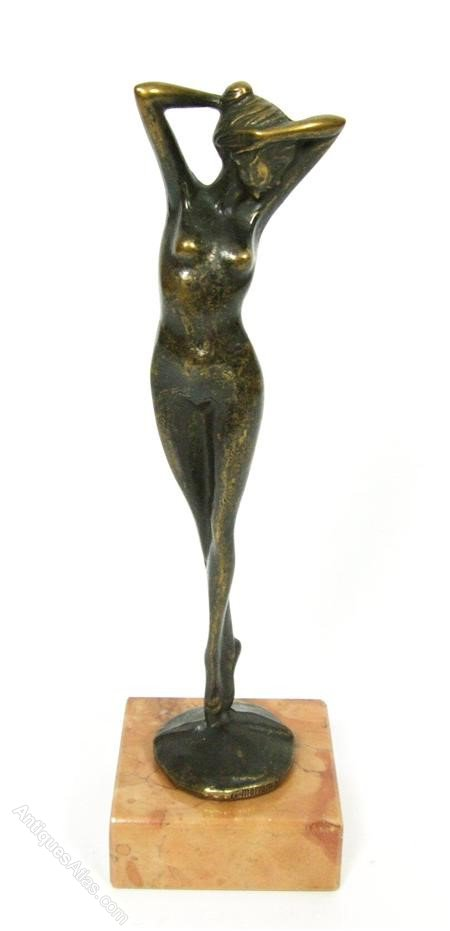 G Moriani Early 20th Century Bronze Nude