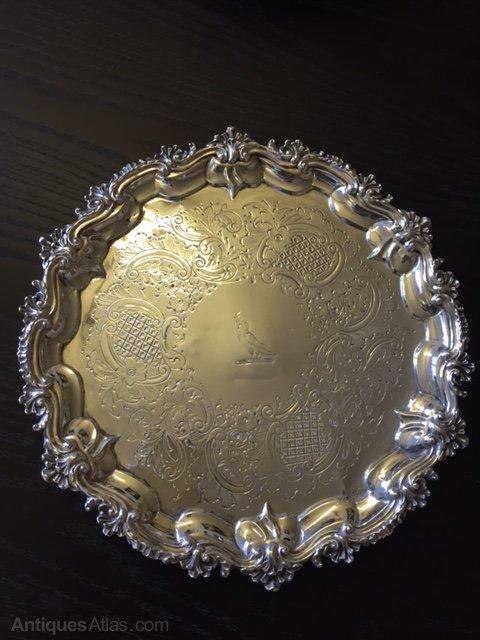George III Sterling Silver Salver, Timothy Renou