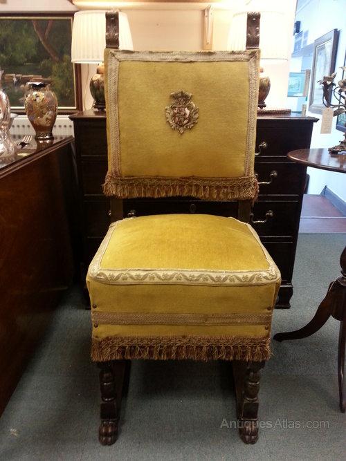 Impressive Set of Six Baronial Chairs c1860