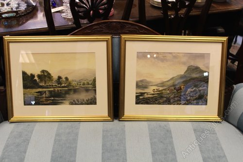 Pair of C.A. Branson Signed Watercolours