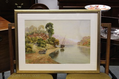 Percuil River Scene by Thomas Mortimer, 1921