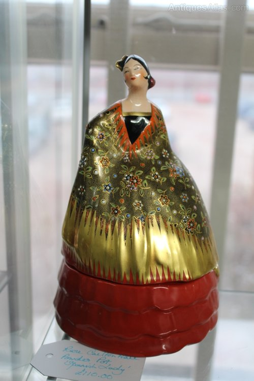 Rose Carltonware Spanish Lady Powder Pot