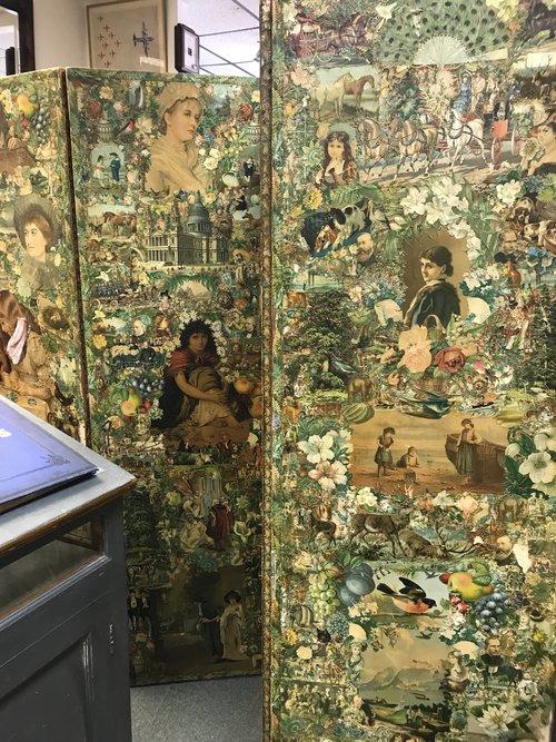 Victorian Scraps room divider screen