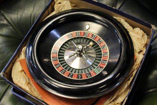 Vintage Desktop Roulette Wheel from Harrods