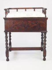 Vintage Oak Piano Stool