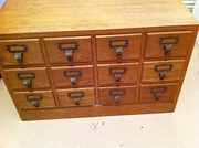 1930 French Bank Drawer in Oak