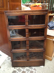 Antique 4 Section Bookcase Cab