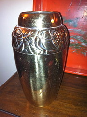 Art Deco Vase in Brass
