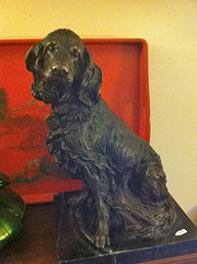 Bronze Sculpture of Spaniel
