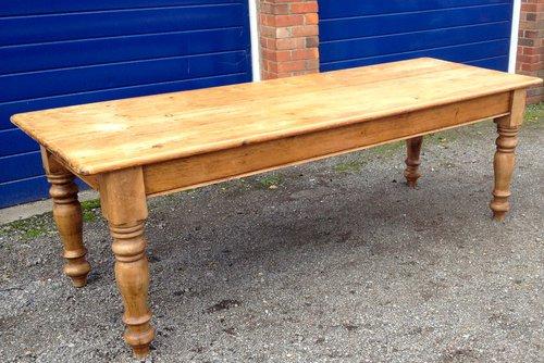 Victorian Farmhouse Table Pine Seats 10 Antiques Atlas